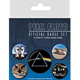 Pink Floyd Badge Pack - What Do You Want From Me 38mm & 4 X 25mm Badges (6 x 4 inches)