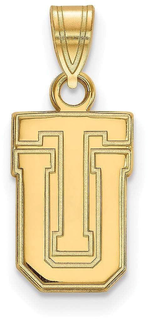 Gold-Plated Sterling Silver The University of Tulsa Sm Pendant LogoArt GP005UTL