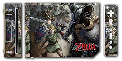 Skin Wii Vinyl - Legend of Zelda Link Twilight Princess Wolf Video Game Vinyl Decal Skin Sticker Cover for the Nintendo Wii System Console