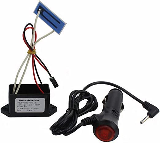 WWK Coche purificador de Aire, generador de ozono portátil, DC12V 200 MG Larga Vida cerámica o ozonizador del generador de oxígeno portátil Apto para Coches: Amazon ...