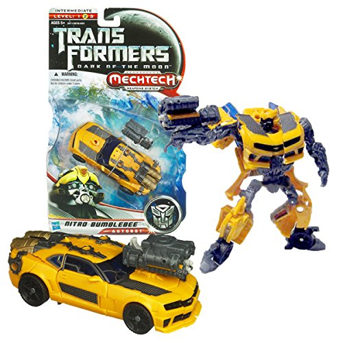 (Transformers Hasbro Year 2010 Movie Dark of The Moon Series Deluxe Class 6 Inch Tall Robot Figure - Nitro Bumblebee with Boost Engine That Change to Plasma Cannon (Vehicle Mode: Camaro Concept))