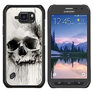 TECHCASE---Cubierta de la caja de protección para la piel dura ** Samsung Galaxy S6 Active G890A ** --Muerte Acuarela Dibujo metal