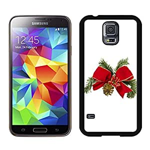 S5 Case,Christmas Tree Bowknot TPU Black Case For Galaxy S5,Samsung Galaxy S5 I9600 Protective