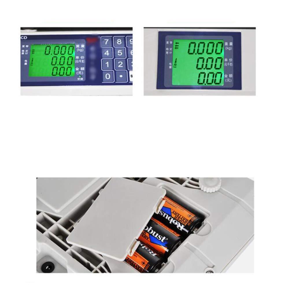 LLRDIAN Básculas electrónicas ·30 kg Frutas comerciales Que Venden Verduras básculas electrónicas domésticas · básculas de Cocina para Precios de ...