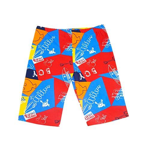 Aivtalk Boys Swim Trunk UPF 50 High Elastic Waistband Drawstring Mesh Lined Jammer Swimsuit 8-10 Years Red