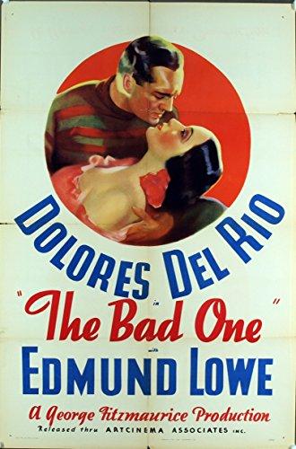 The Bad One 1930 Original One Sheet Poster Dolores del Rio Fine Plus