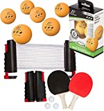 Bundle Includes 3 Items - Trademark Innovations Anywhere Table Tennis Set with Paddles and Balls and 2 EastPoint Sports 40mm 3-Star Table Tennis Balls - Orange (6-Pack) - 12 Total