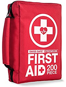 Premium First Aid Kit (200-Piece) : FDA Medical Supplies for Home, Office, or Camping (BONUS ITEMS: Emergency Outdoor Survival Gear)