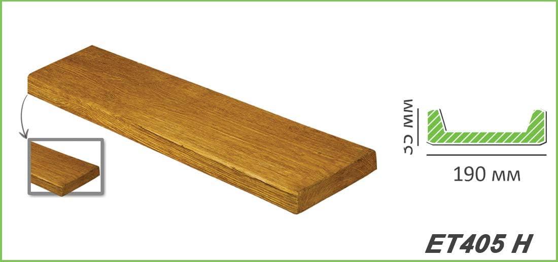 Tablas de madera de imitación de madera de 2 metros, decoración de poliuretano, 190 x 35 mm, madera decorativa ET405: Amazon.es: Bricolaje y herramientas