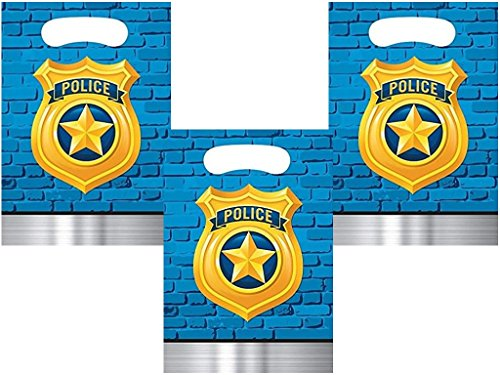 Police Party Treat Loot Favor Bags, 24 Count -