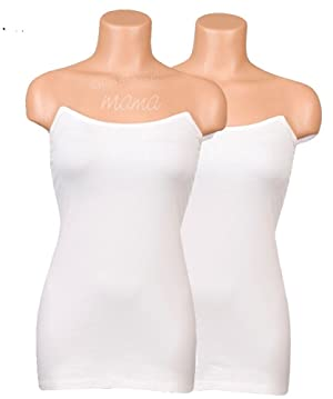 Undercover Mama Nursing Tank White Value 2-Pack -Perfect Pregnancy Undershirt-XS