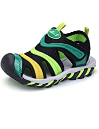 Boy's and Girl's Sports Sandals Breathable Closed-Toe Summer Outdoor Athletic Beach Shoes