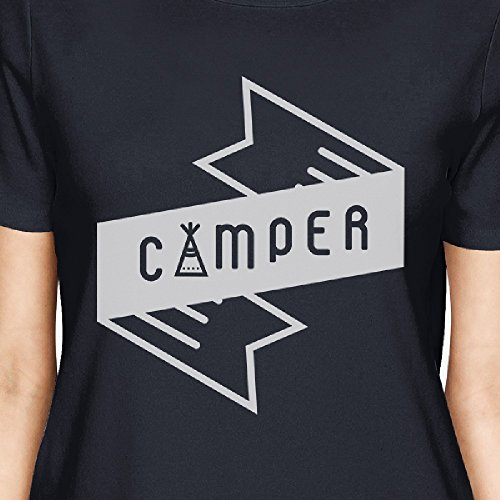 shirt da Camper donna unica corta T Stampa Navy Taglia manica a 365 pxwaE1nqv