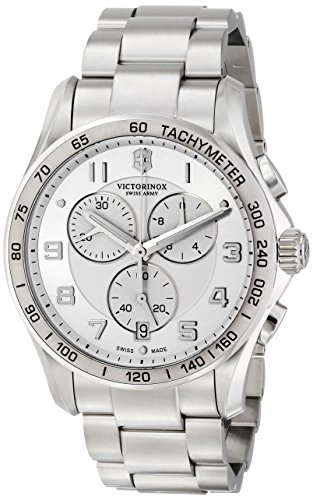 Victorinox Swiss Army Classic XLS Silver Dial SS Quartz Male Watch 241654