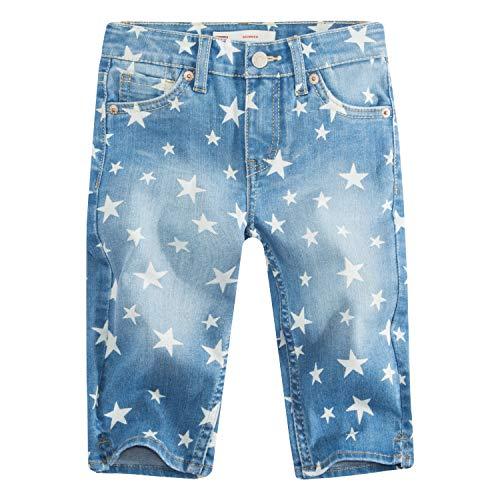 Levi's Girls' Little Denim Skimmer Shorts, Nirvana, 6X (Levis Bermuda Shorts)