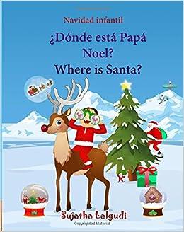 Navidad Infantil Donde Esta Papa Noel Where Is Santa Edicion - Imagenes-infantiles-de-navidad