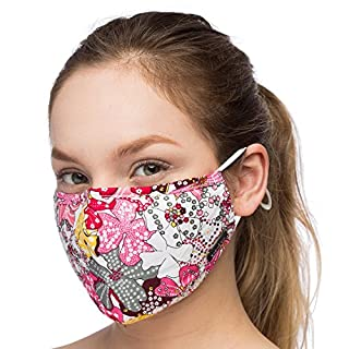 Debrief Me Air Filtration Pollution Masks (1 Mask+2 Filters) Carbon Activated N95 Anti Pollution Mask -Washable Reusable comfy Cotton(MIX Pink)