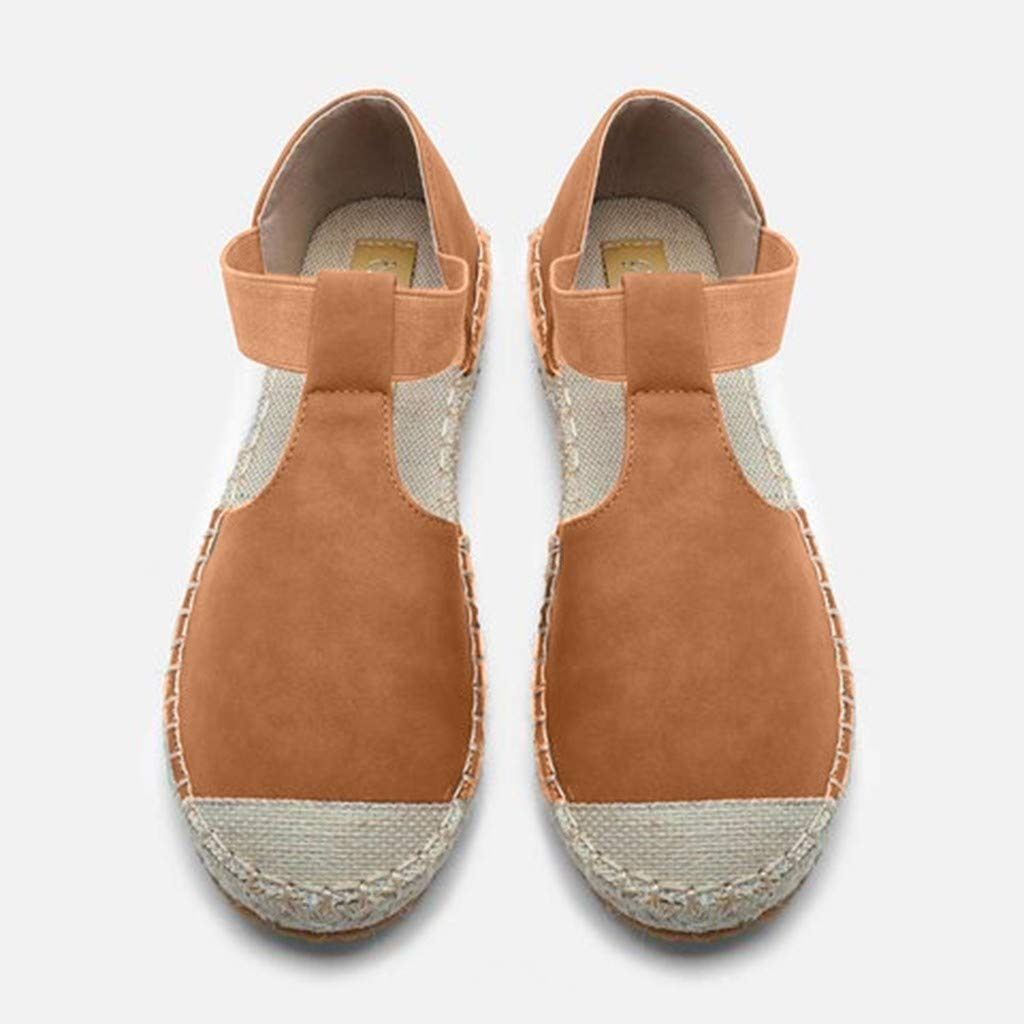 Women's Foreign Trade Large Size Retro Wind Flat Sandals Women's Fashion Round Head Casual Shoes Brown by Lloopyting (Image #3)