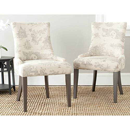 Safavieh Mercer Collection Lester Dining Chairs, Taupe, Set of - Parsons Chair Chair Traditional
