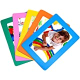 aulife 4x6 inch magnetic picture frame set of 5
