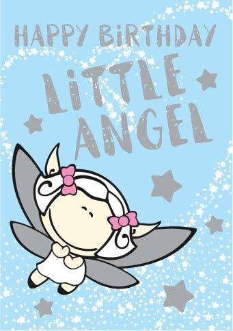 Feliz cumpleaños poco ángel tarjetas de felicitación – X6 Pack: Amazon.es: Oficina y papelería