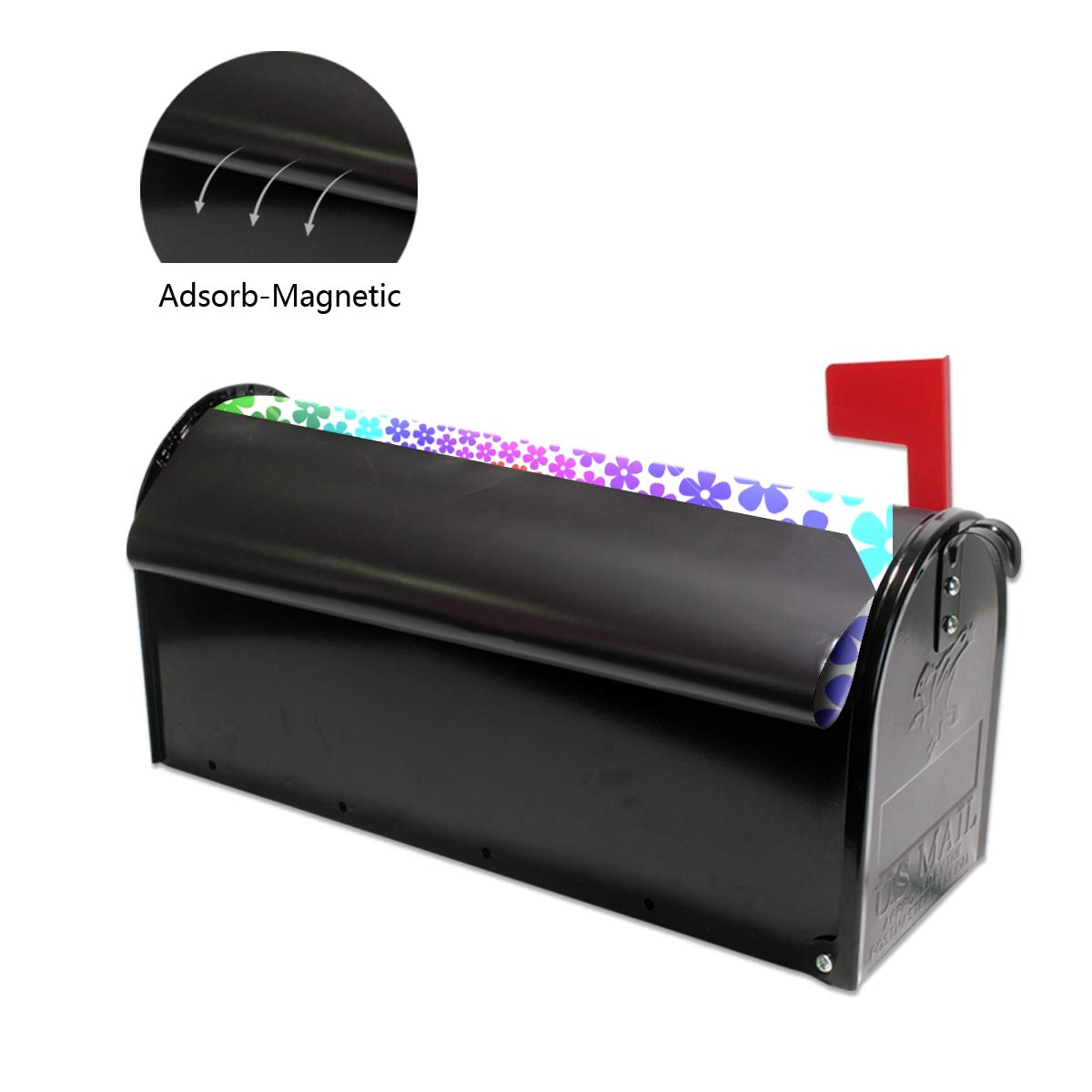 YQINING Mailbox Cover Magnetic Customized Flower Power Two Sizes Suitable for US Mailbox by YQINING (Image #5)