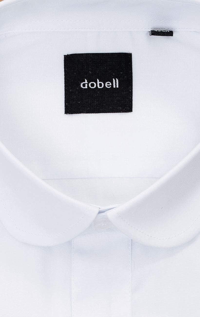 Dobell Herren Hemd Wei/ß Penny Collar