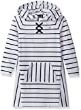 Tommy Hilfiger Big Girls' Hooded Sweatshirt Dress, White, Medium