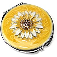 QTMY Remember I Love You Mom Travel Portable Handheld Mirrors,Foldable Makeup Mirrors Mothers Day Gift (Sunflower Mirror)
