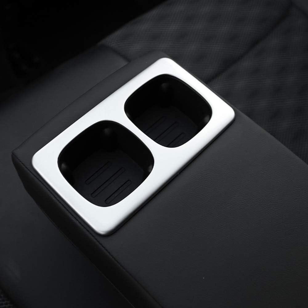 ABS Chrome Car Interior Rear Water Cup Holder Frame Cover Frame Trim Accessori JIERS Per Nissan Qashqai J11 2014-2019