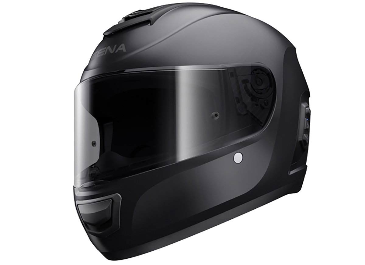 Sena Unisex-Adult Full Face Momentum Lite Full Face Helmet (Matte Black, XX-Large)
