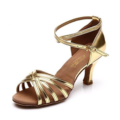 Des Satin Professionnelles Sandales E De Chaussures Salsa Femmes Danse Couleurs De Bal plus Salle Supérieure Latines 37 Fille Med Chaussures wFSXXdxn