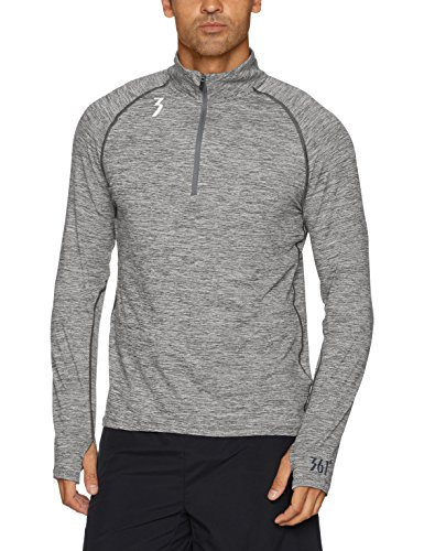 361 Degree Sports Apparel Mens Qu!K Thermal Lux 1/2 Zip Shirt