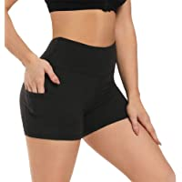 """Fotociti Yoga Shorts for Women – 5"""" High Waisted Biker Shorts with Pockets for Workout, Training, Running"""