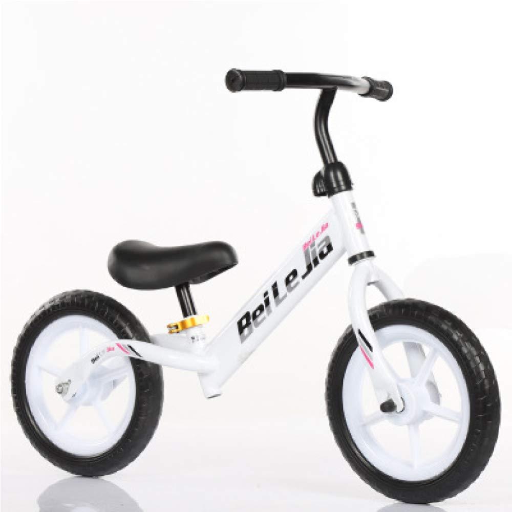 YSH Bicicleta para Niños Sin Pedal, Marco De Acero Al Carbono, Altura De Asiento De Manillar Ajustable, con Freno De Mano, Niños De 2 A 6 Años, 80-120 Cm,G