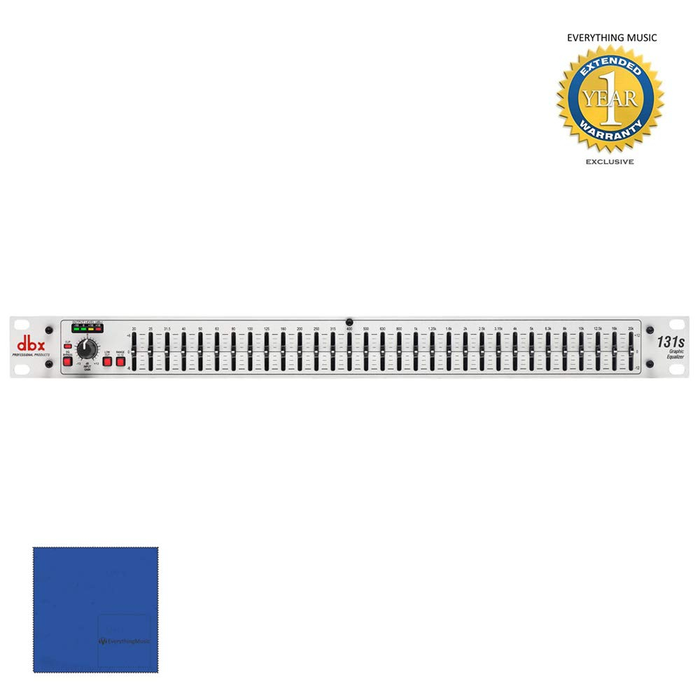 dbx 131s Single Channel 31-Band Equalizer with Microfiber and 1 Year Everything Music Extended Warranty