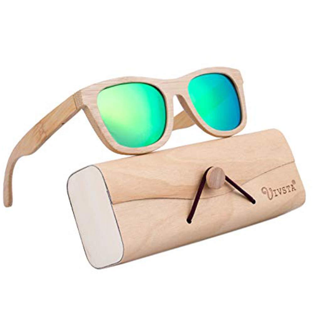 e1094a6805b Amazon.com  Bamboo Wood Sunglasses for Men Women