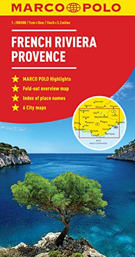 French Riviera, Provence Marco Polo Map (Marco Polo Maps)...