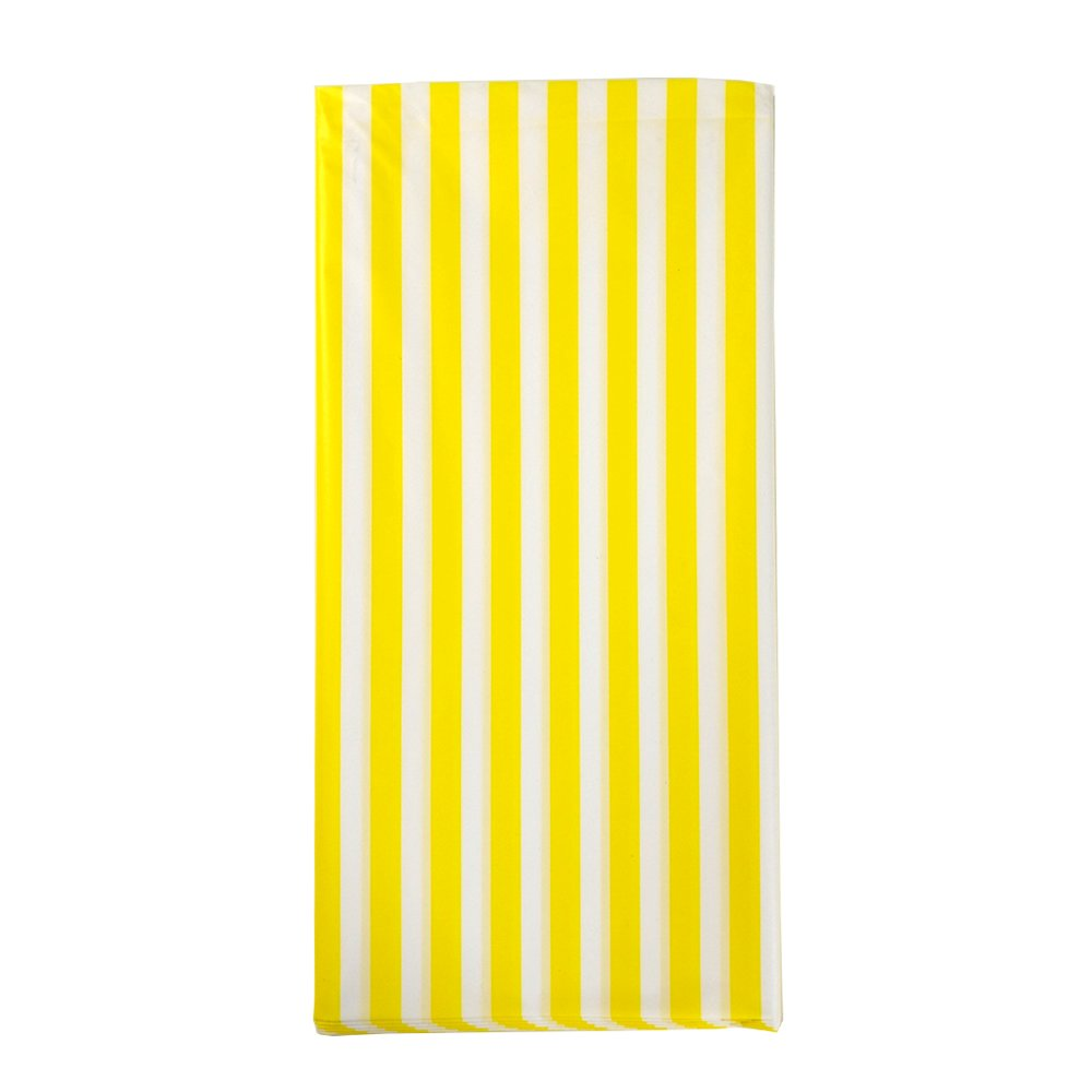 Amazon.com: JINSEY Pack of 3 Plastic Yellow and White Striped Print  Tablecloths - 3 Pack - Party Picnic Table Covers: Toys & Games