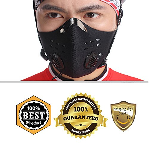 [MeanHoo Rockbros Bike Cycling Anti-dust Half Face Mask with Filter Neoprene (Black, Large)] (Board Game Halloween Costumes Diy)