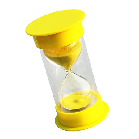 magideal 1 minutes hourglass timer yellow lid sand