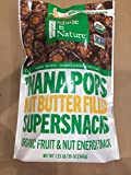 Made in Nature 'Nana Pops Nut Butter Filled Supersnacks, Organic Fruit & Nut Energy Sanck, 1.25 LB, One BAG
