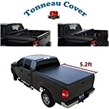 Deebior Black 5' Soft Lock & Roll-up Top Mount Tonneau Cover Assembly w/Rails for 15-19 Chevy Colorado/GMC Canyon Pickup 5ft Bed