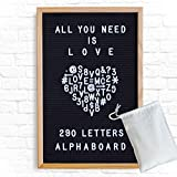 Vintage inspired hand crafted charcoal black felt letter board sign with 290 white letters, symbols, and numbers that can be used as home decor, business/work signage, a photography prop, a teaching tool, and much more -- the possibilities ar...
