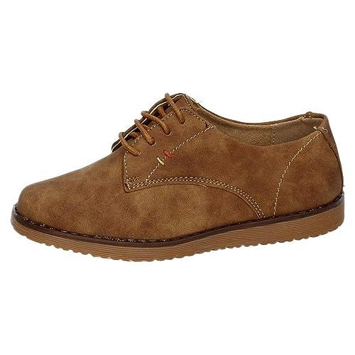 BONINO 5-NS596B-18 Zapatos con CORDÓN NIÑO Zapatos MOCASÍN Camel 33
