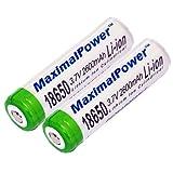 Best MaximalPower Rechargeable Batteries - MaximalPower 18650(2)-2600 18650 3.7V Rechargeable Li-Ion Battery 2-Pieces Review