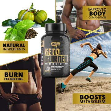 Keto Fat Burner Pills, Exogenous Ketones W/ 2g Go Bhb Keto Weight Loss Supplement & Garcinia Cambogia Blend for Men & Women. Ketone Supplement for Belly Fat, Appetite Suppressant, Energy, Ketosis by GLADIATOR GYM GEAR (Image #2)