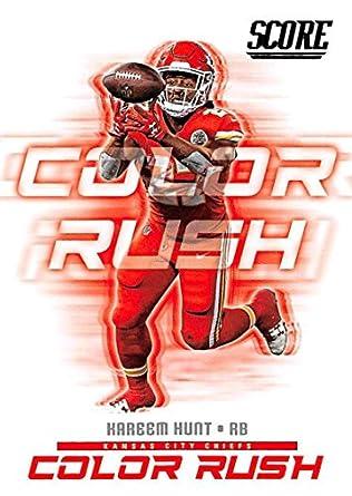 Amazon.com  2018 Score Color Rush  2 Kareem Hunt Kansas City Chiefs ... 85caa3c89