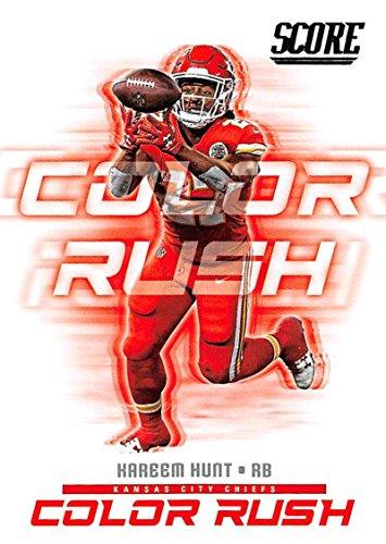 2018 Score Color Rush #2 Kareem Hunt Kansas City Chiefs Football Card (City Card Football Chiefs Kansas)
