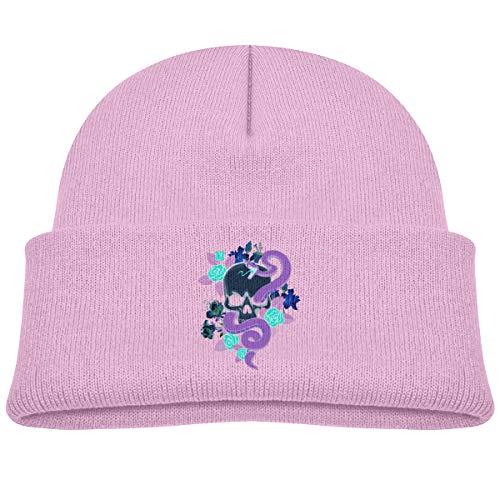 (Purple Snake Wrapped Around A Skull Beanie Cap Skull Hats Baby Girls)